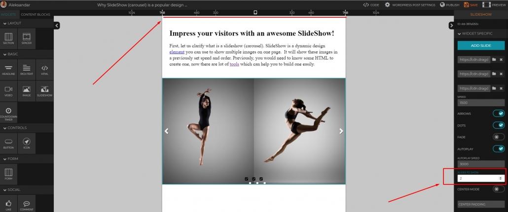 create a slideshow carousel
