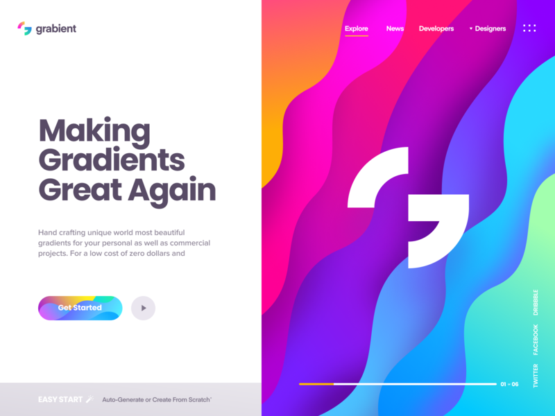 Grabient - Landing Page by Eddie Lobanovskiy