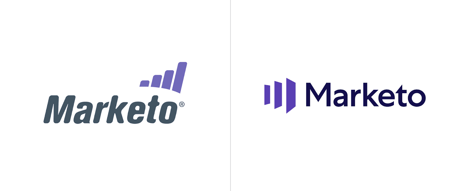 Marketo transitions from playful to Helvetica serious